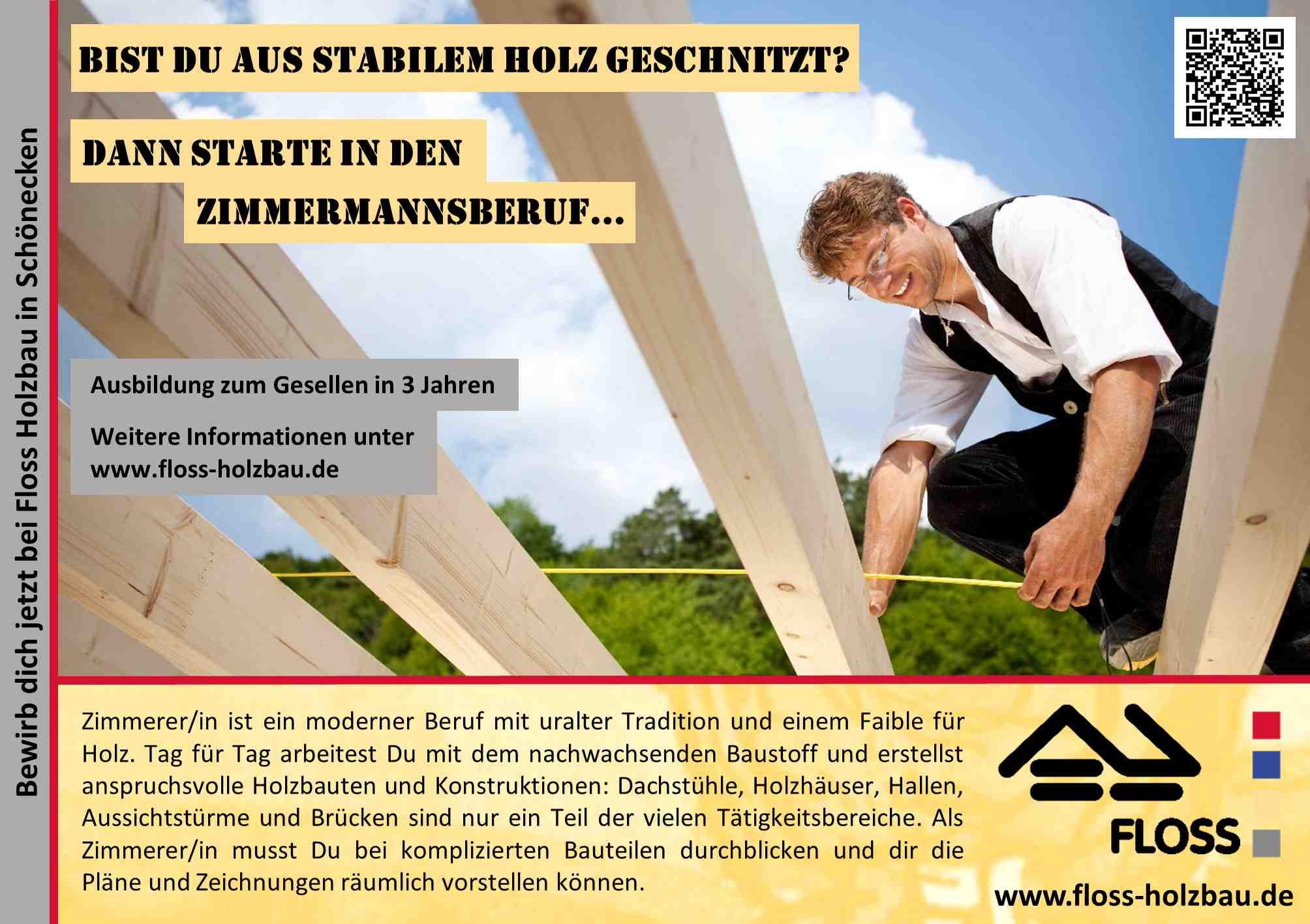 Floss Blockhaus Holzrahmen Zimmerei Architektur Ausbildung
