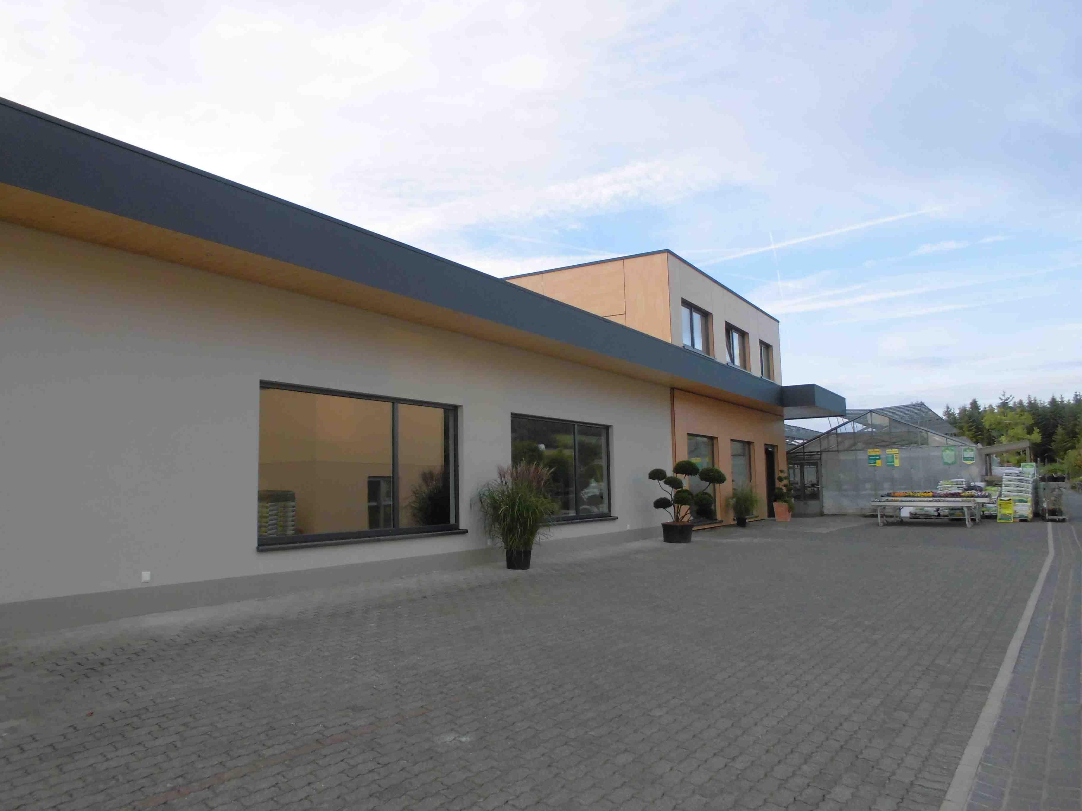 Gartencenter Schmitz floss blockhaus holzrahmen zimmerei architektur gg